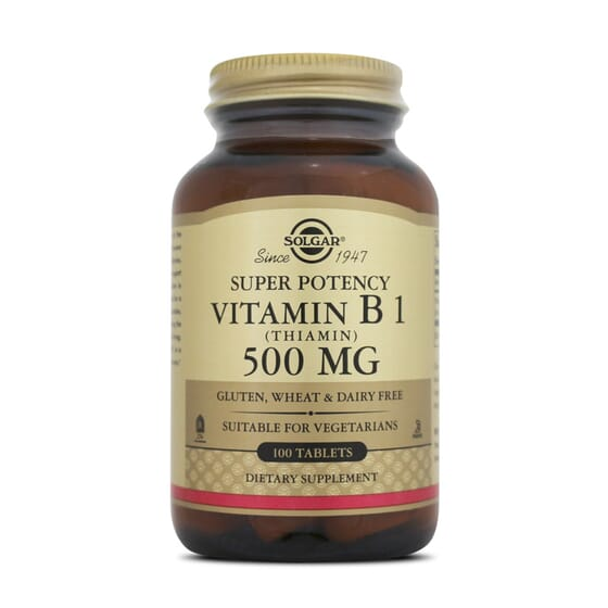 Super Potency Vitamin B1 500Mg 100 Tabs da Solgar
