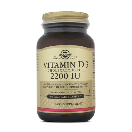 Vitamin D3 2200Iu 100 Vcaps da Solgar