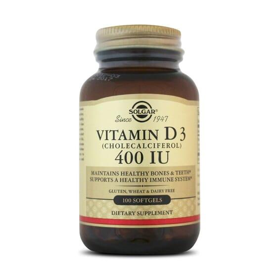 Vitamin D3 400Iu 100 Softgels da Solgar