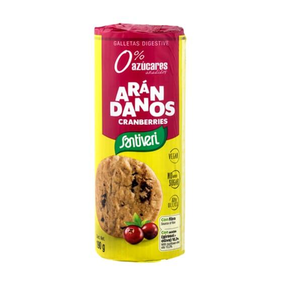 Galletas Digestive Con Arándanos 190g de Santiveri