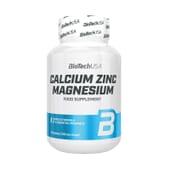Calcium Zinc Magnesium 100 Tabs da Biotech USA