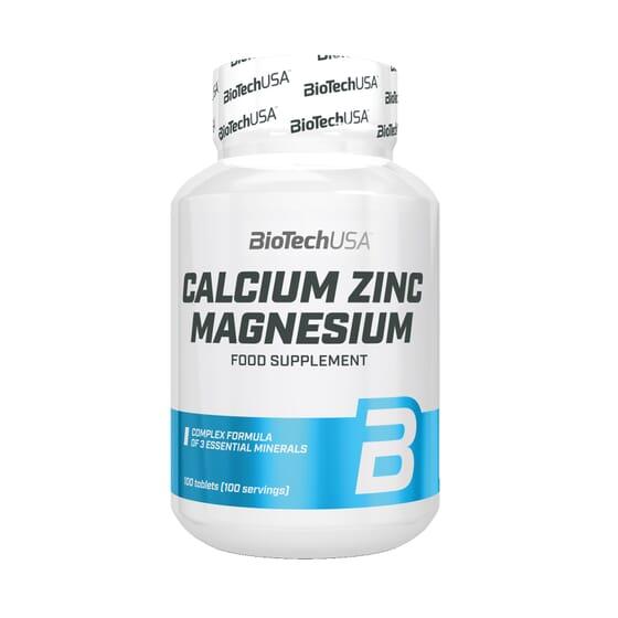 CALCIUM ZINC MAGNÉSIUM 100 Comprimés - BIOTECH USA