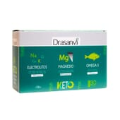 Pack Eletrólitos Keto + Magnésio + Ómega 3 da Drasanvi