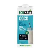 Bebida Vegetal De Coco Sin Azúcar Con Calcio Bio 1 L de Ecocesta
