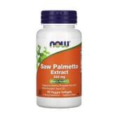 Extrato de Saw Palmetto 320 mg 90 VCaps da Now Foods