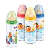 Biberon First Choice Barrio Sesamo Silicone 0-6 M 300 ml di Nuk