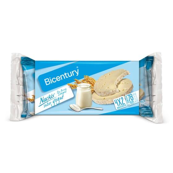 Nackis De Arroz Integral Sabor Iogurte 4 x 2 Tortitas da Bicentury