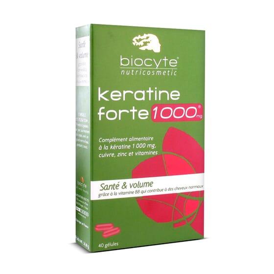 BIOCYTE KERATINE FORTE 1000 mg 40 Gélules - BIOCYTE