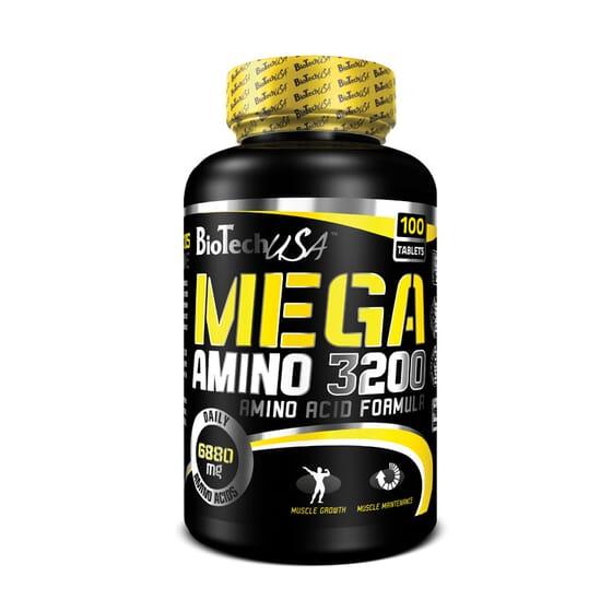 Mega Amino 3200 100 Tabs de Biotech Usa