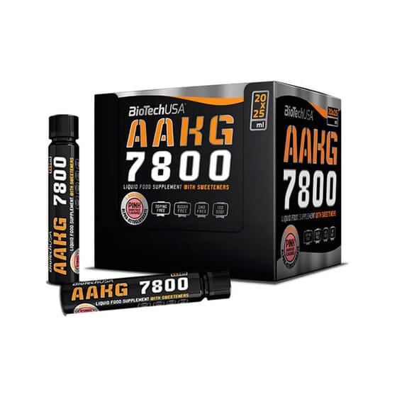 AAKG 7800 20 Fioles de 25ml - BIOTECH USA