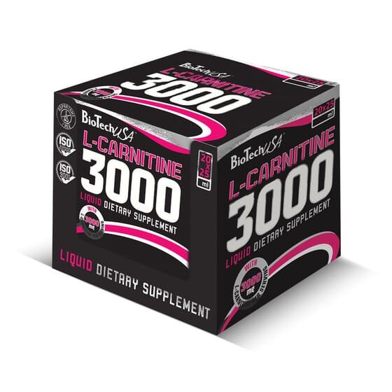 L-Carnitine 3000 20 x 25ml de Biotech Usa