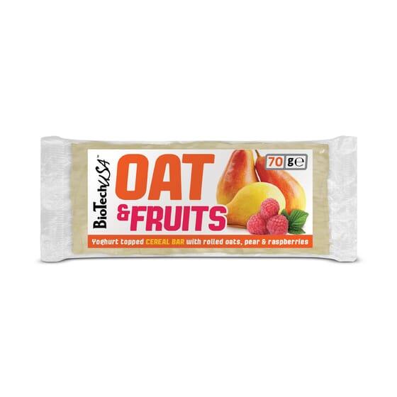 Oat & Fruit With Pear & Raspberry 20 x 70g de Biotech Usa