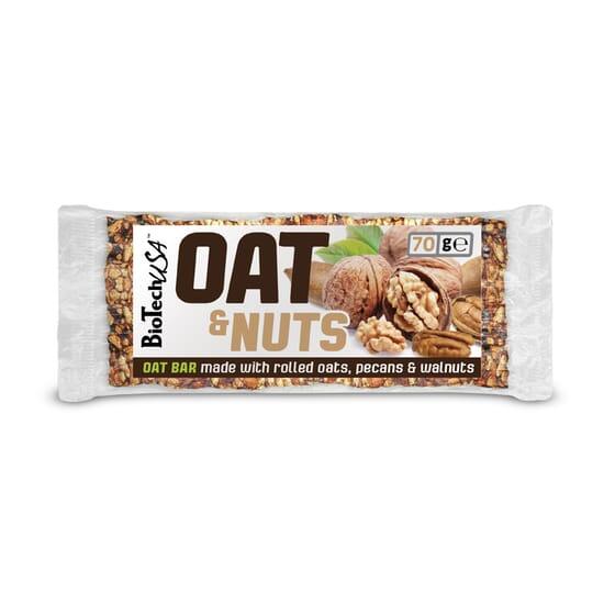 Oat & Nuts With Pecans & Walnut 20 x 70g de Biotech Usa