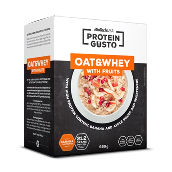 PROTEIN GUSTO OAT & WHEY WITH FRUITS 696 g - BIOTECH USA