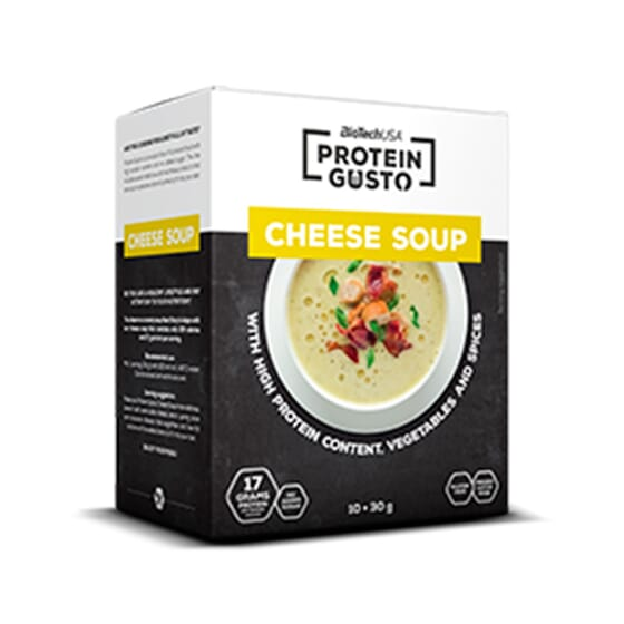 PROTEIN GUSTO CHEESE SOUP 10 x 30 g - BIOTECH USA