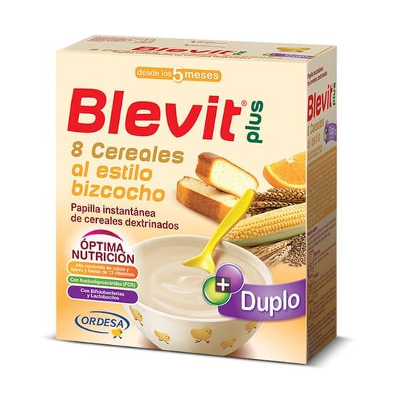 BLEVIT PLUS DUPLO 8 CEREALES AL ESTILO BIZCOCHO 600g de Blevit