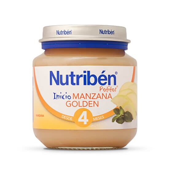 Premier Petit Pot Pomme Golden avec de la vitamine C pour bébés de plus de 4 mois.