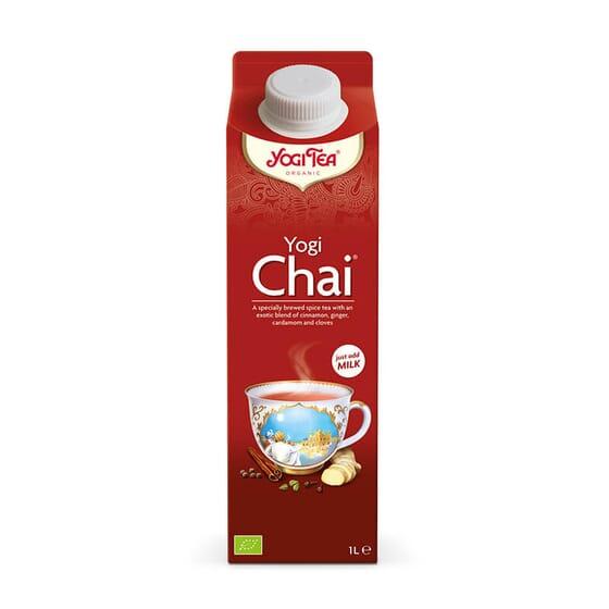 Yogi Chai é uma infusão pronta ponta para tomar.