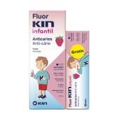 Fluor Kin Infantil Colutório é especial para crianças maiores de 5 anos.