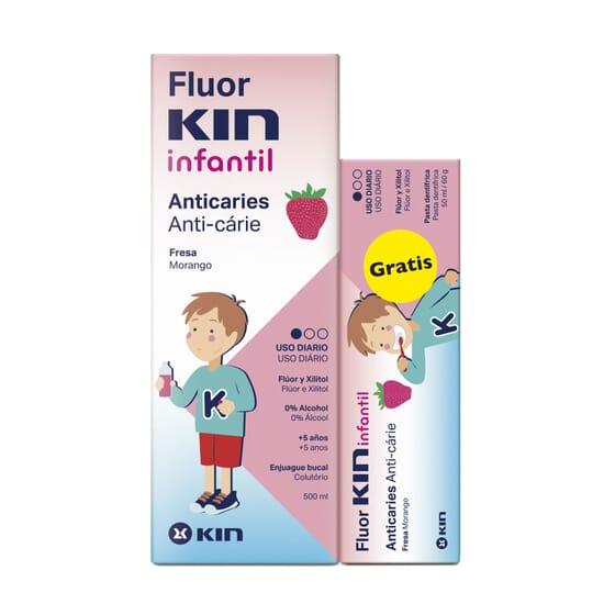 Fluor Kin Enfants Bain de Bouche est spécial pour enfants de plus de 5 ans.