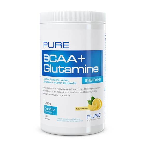 Pure BCAA + Glutamine Instant favorece la recuperación muscular.