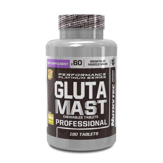 Glutamast Professional (Performance Platinum Series) es una glutamina masticable.