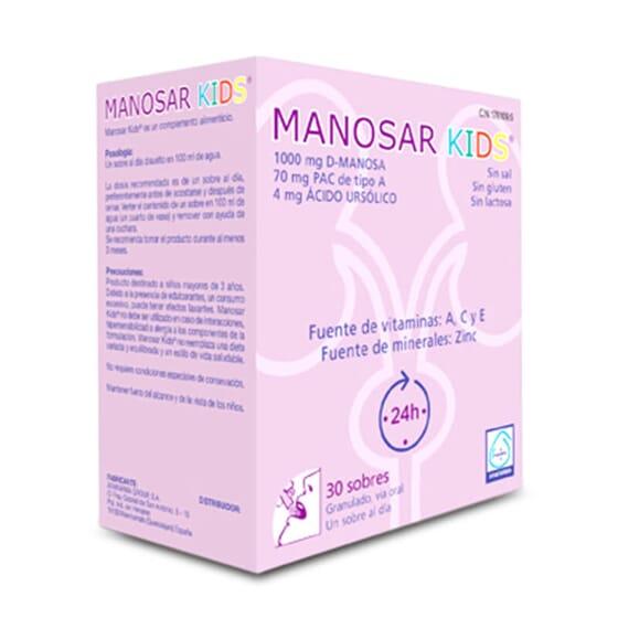 Manosar Enfants protège contre les infections des voies urinaires.