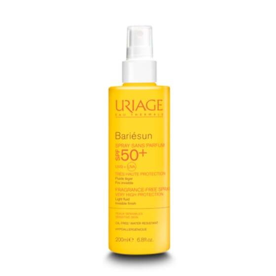 Bariésun Spray Sin Perfume SPF50 está indicado para las pieles sensibles.