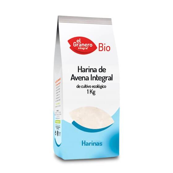 Harina de Avena Integral Bio destaca por su alto contenido en fibra.