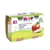 Mes Premiers Fruits Pomme et Poire Bio 125g 2 Unités de Hipp