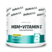 Msm + Vitamina C 150g da Biotech USA
