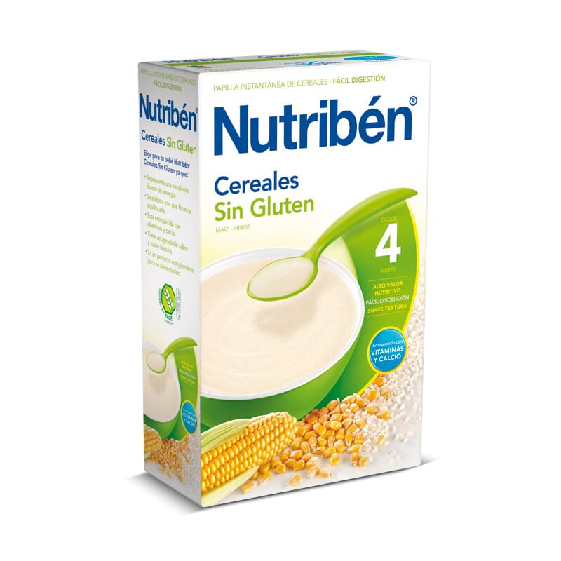 Cereales sin gluten 300g nutriben - Cereales sin gluten bebe 3 meses ...