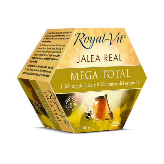 Geleia Real Royal Vit Mega Total 20 x 10 ml da Dietisa