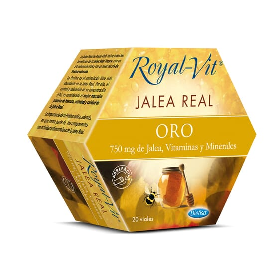 Jalea Real Royal Vit Oro 20 x 10ml de Dietisa