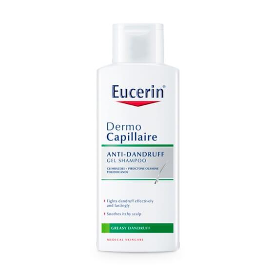 EUCERIN DERMOCAPILLAIRE SHAMPOOING GEL ANTIPELLICULAIRE 250 ml - EUCERIN