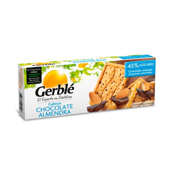 GALLETAS CHOCOLATE ALMENDRA 16 x 12,5g - GERBLE