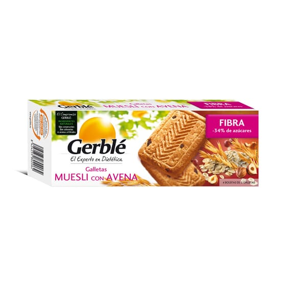 BISCUIT MUESLI AVOINE 20 x 14,5 g - GERBLÉ