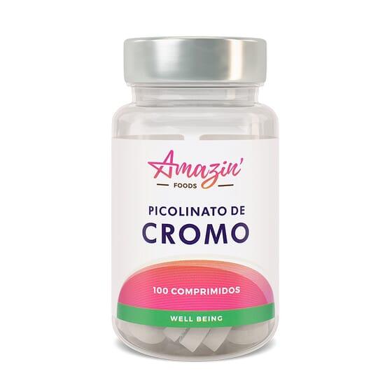 PICOLINATE DE CHROME 100 Comprimés de Amazin'Foods