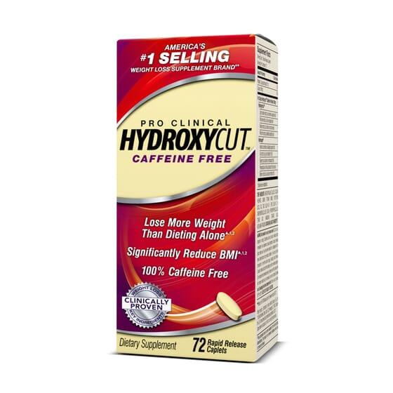 HYDROXYCUT PRO CLINICAL CAFFEINE FREE 72 Tabs - MUSCLETECH