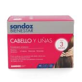SANDOZ BIENESTAR CABELLO Y UÑAS PACK 3 MESES 90 Caps de Sandoz Bienestar