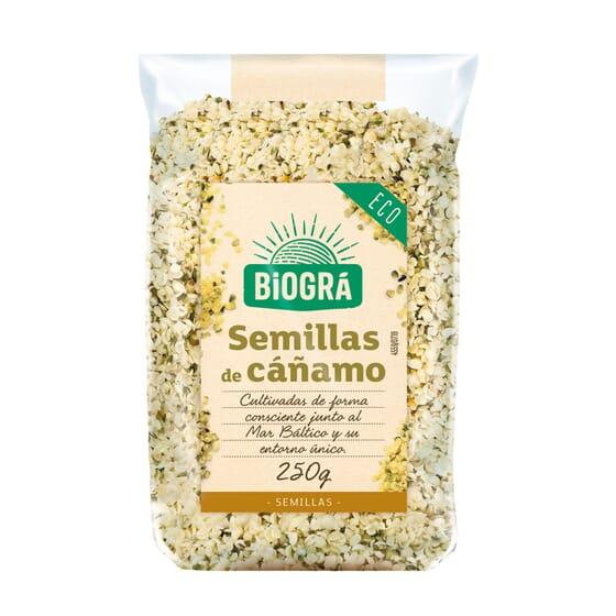 Graines de Chanvre Décortiquées Bio 250g de Biogra