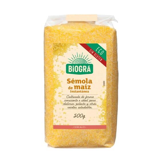 Sêmola De Milho Instantânea Bio  500g de Biogra