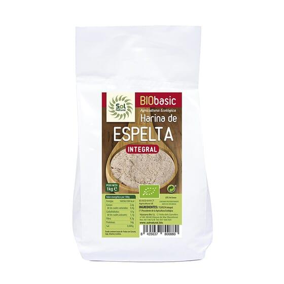 Harina De Espelta Integral Bio 1 Kg de Sol Natural