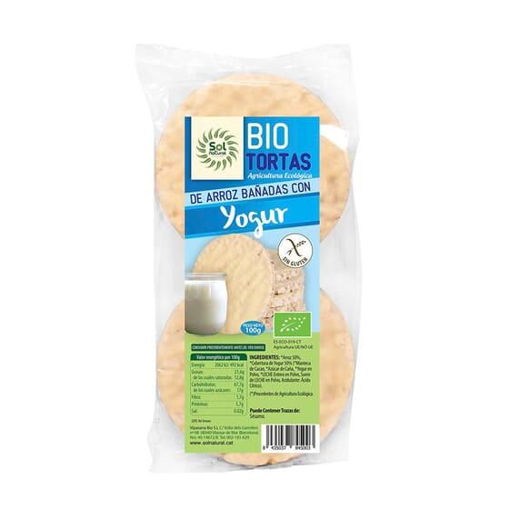 Tortas De Arroz Bañadas Con Yogur Bio 100g de Sol Natural