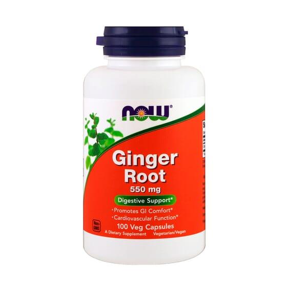 Ginger Root 550 mg 100 VCaps de Now Foods