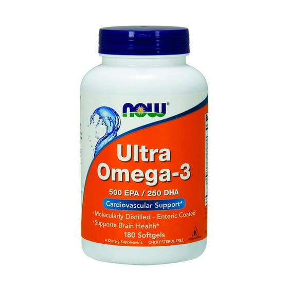 Ultra Omega -3 500 EPA / 250 DHA 180 Softgels de Now Foods
