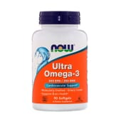 Ultra Omega-3 500 EPA / 250 DHA 90 Softgels de Now Foods