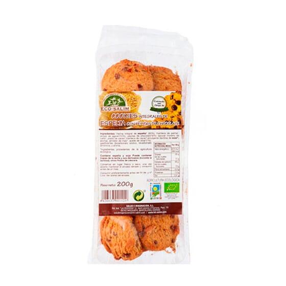 Cookies Integrales de Espelta con Pepitas de Chocolate 200g de Eco-Salim