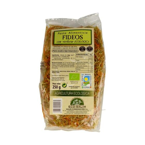Fideos Con Verduras Bio 250g de Eco-Salim