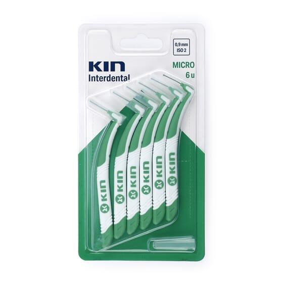 KIN INTERDENTAL CEPILLO MICRO 0,9mm 6 Ud